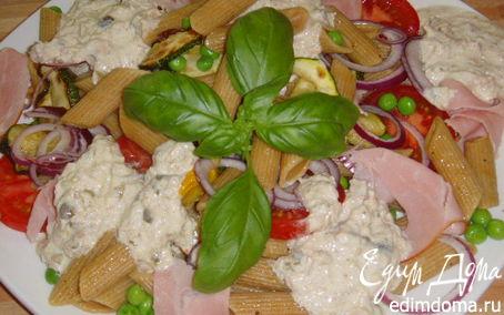 """Рецепт Паста-салат а-ля """"вителло тоннато"""""""