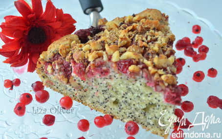 Рецепт Маковник с сезонными ягодами и ореховой корочкой