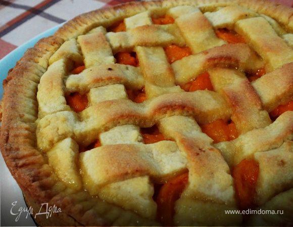 """На скорую руку : пирог """"Песочная решетка"""" с абрикосами"""