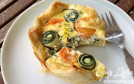 Рецепт Маленькие тарты с лососем и цукини розами