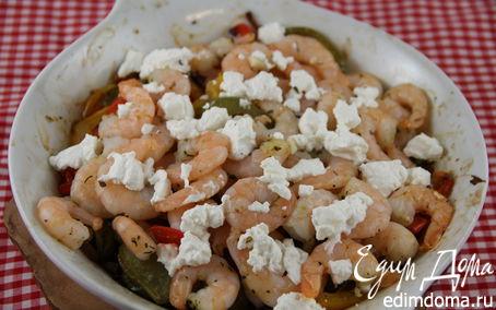 Рецепт Запеченные овощи с креветками