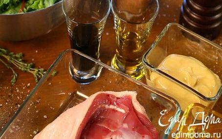 Рецепт Салат из утки с жареными персиками