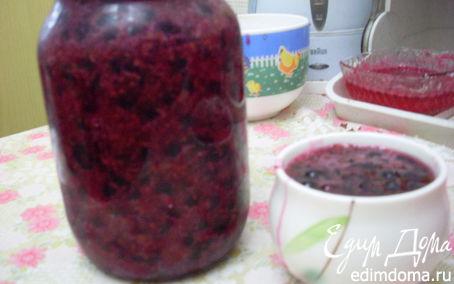 Рецепт Желе с ягодками на зиму - толченая черная смородина с сахаром