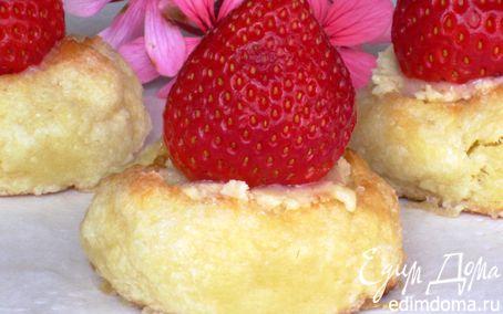 Рецепт Творожное печенье с клубникой