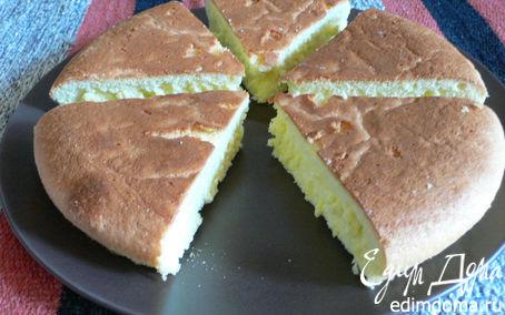 Рецепт Необыкновенно нежный бисквит на крахмале