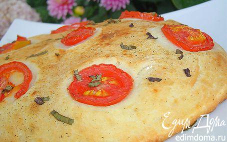 Рецепт Великолепная лепешка с помидорами