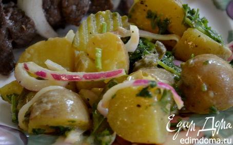 Рецепт Салат картофельный с горчицей