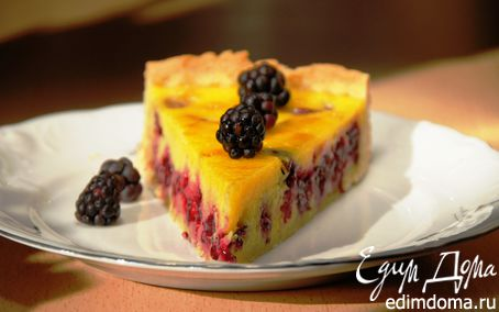 Рецепт Пирог с ежевикой и маскарпоне