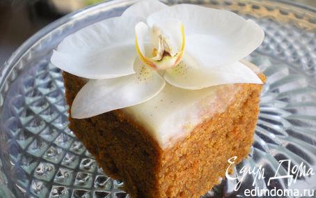Рецепт Морковный пирог с корицей и ванильным кремом