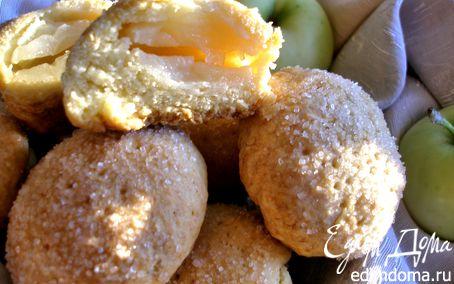 Рецепт Песочное печенье с половинками яблок