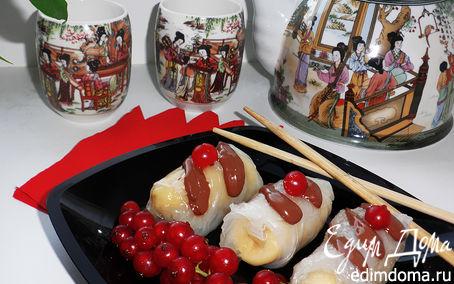 """Рецепт Банановые спринг-роллы (""""Неделя японской кухни"""")"""