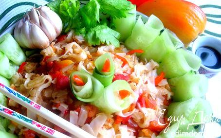 """Рецепт Салат тeплый из рисовой лапши (""""Неделя японской кухни"""")"""