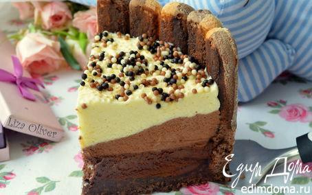 """Рецепт Шоколадный торт из трех муссов """"Варенька"""""""