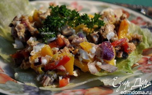 Рецепт Салат с цыпленком и овощами