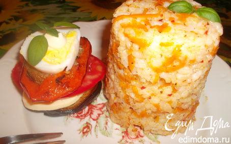"Рецепт ""Овощные башенки"" с рисом"