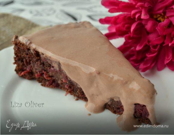 """Свекольно-шоколадный торт (""""Юлия, с днем рождения!"""")"""