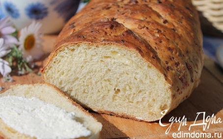 Рецепт Горчичный хлеб на твороге с сыром