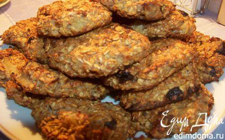 Рецепт Овсяное печенье с яблоками и ананасами