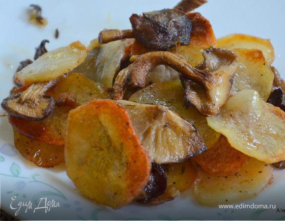 Картофельный галетте с грибами (Potato Galette with Mushrooms)