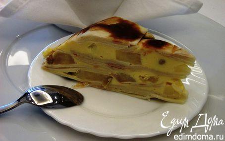 Рецепт Блинный торт с яблоками и творожным кремом