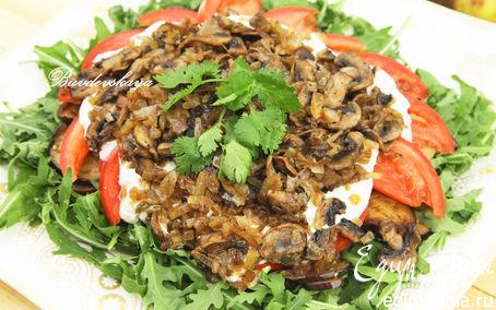 Рецепт Салат с баклажанами и грибами