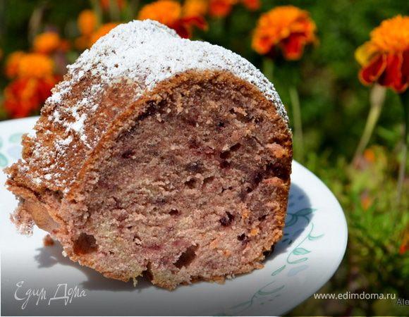 Ежевичный джемовый кекс