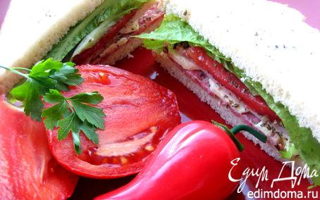 """Рецепт Сэндвич с ветчиной и салями (""""Школьная ссобойка"""")"""