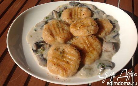 Рецепт Ньокки тыквенные с грибным соусом