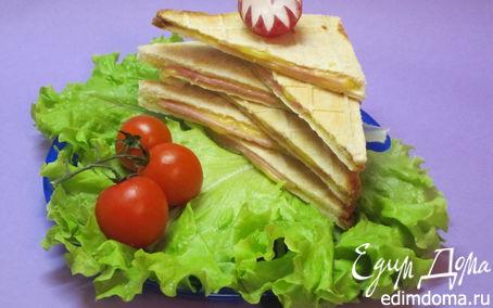 """Рецепт Бутерброды в вафельнице (""""Школьная ссобойка"""") в вафельнице"""