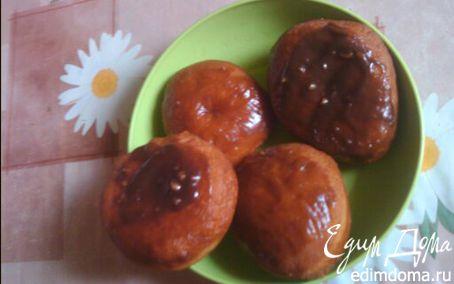 Рецепт Пончики с шоколадной глазурью в хлебопечке