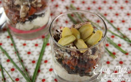 Рецепт Веррины с козьим сыром, маслинами, вялеными томатами и сардинами