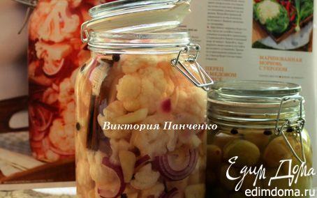 Рецепт Салат из цветной капусты с красным луком