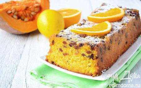 Рецепт Тыквенный кекс с изюмом и цитрусовой заливкой