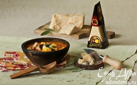 Рецепт Тыквенный суп с сыром и беконом