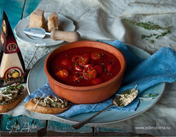 Томатный суп с сыром Джюгас
