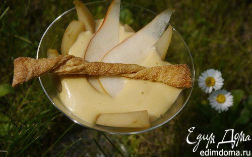 Рецепт Груши в мускатном вине под соусом сабайон