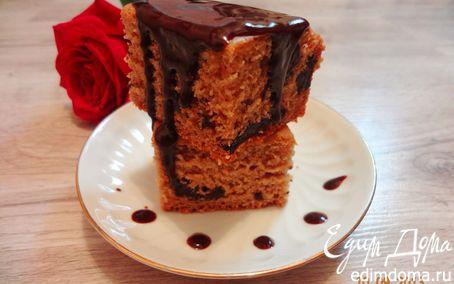 Рецепт Кофейный пирог с черносливом (без масла и яиц)