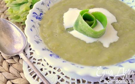 Рецепт Крем-суп из кабачка и яблока