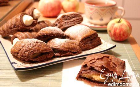 Рецепт Питивье и шоссоны из шоколадного слоеного теста