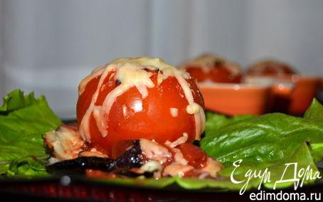 Рецепт Помидоры, фаршированные баклажанами под сыром Джюгас