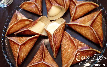 Рецепт Арабские блинчики с заварным кремом (Катайеф / Qatayef)