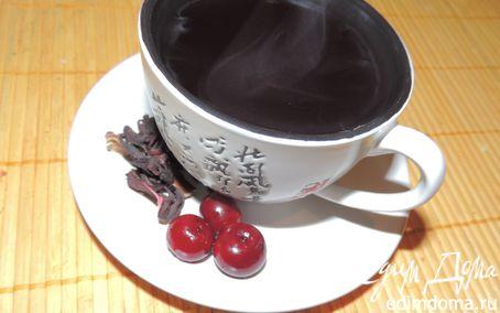 Рецепт Вишневый компот с каркадэ