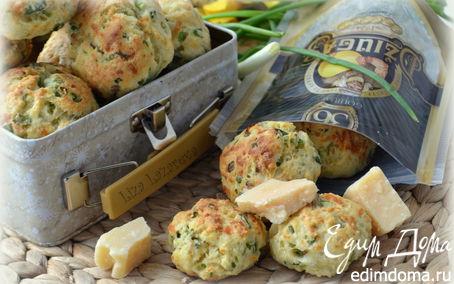 Рецепт Луково-чесночное печенье с сыром Джюгас
