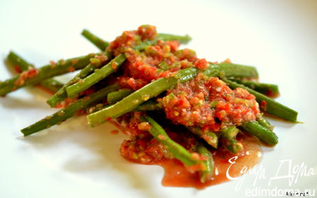 Рецепт Зеленая фасоль со свежим томатным чатни