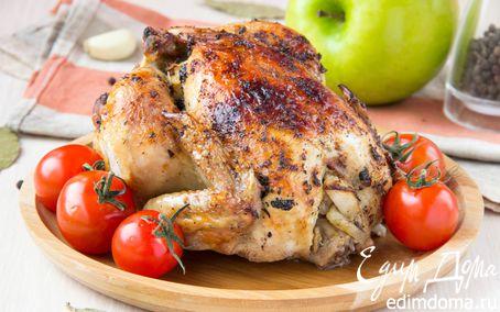 Рецепт Цыплята с травами, фаршированные яблоками