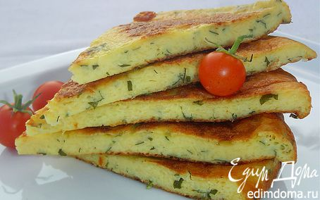 Рецепт Сырная лепешка на сковороде