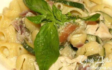 Рецепт Пипе ригате с куриным филе в яблочно-сливочном соусе