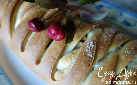 Рецепт Плетенка с яблоками