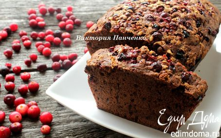 Рецепт Шоколадный кекс с клюквой