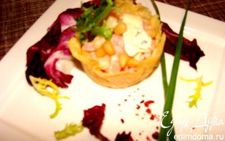 Рецепт Корзиночки на закуску из сыра Джюгас
